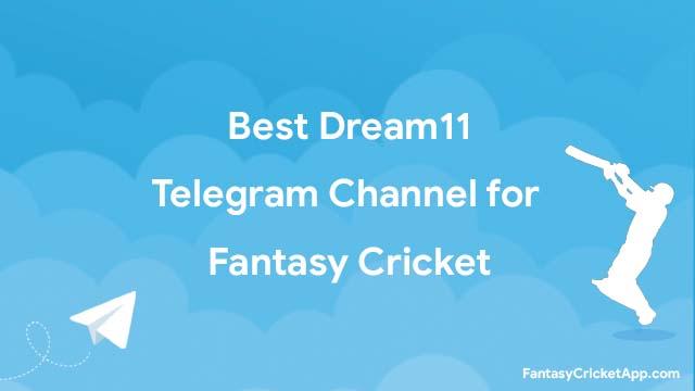 Dream11 Telegram channels