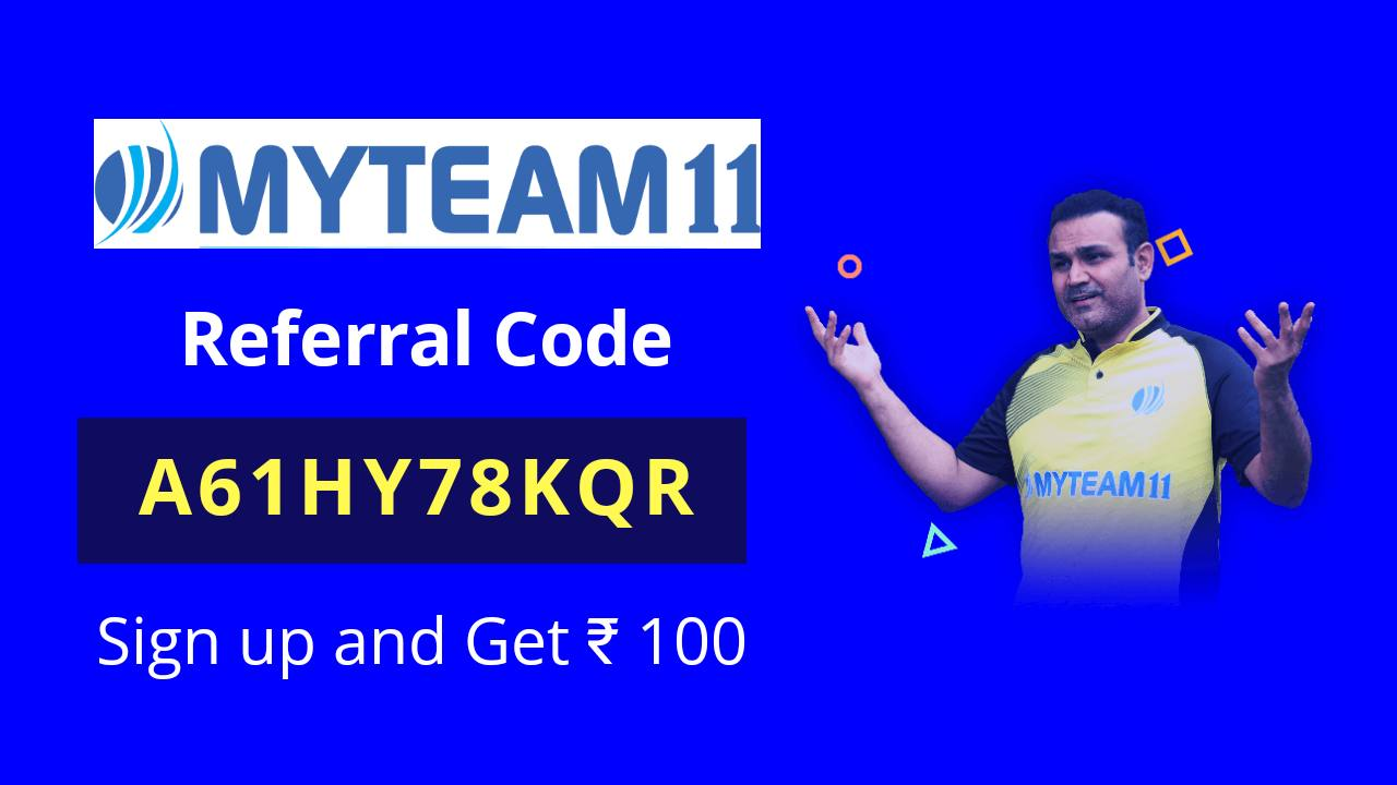 MyTeam11 Referral Code: A61HY78KQR | Review | App Download