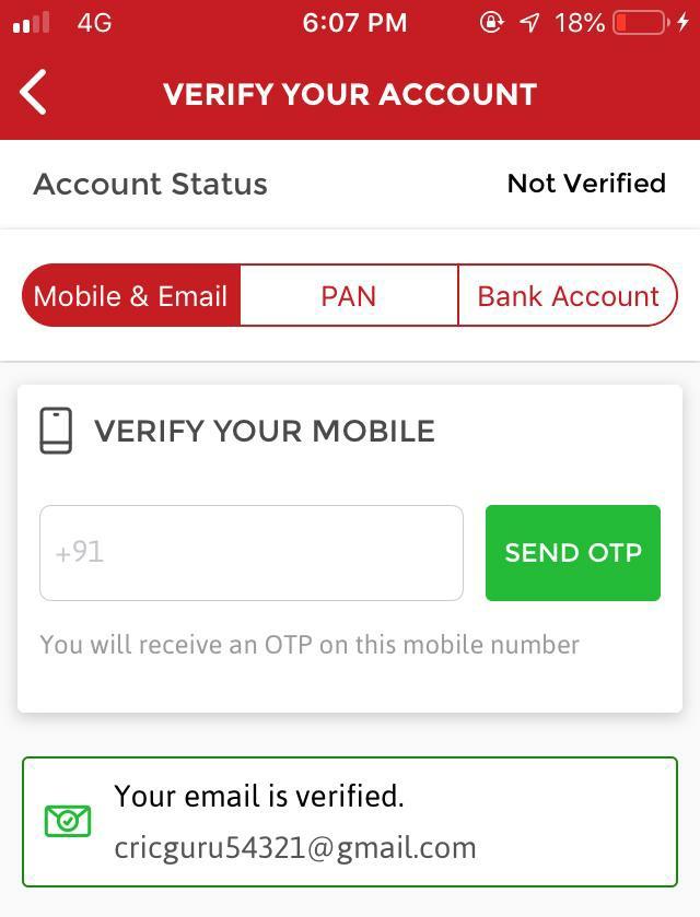 How to verify dream11 account step by step guide screenshot