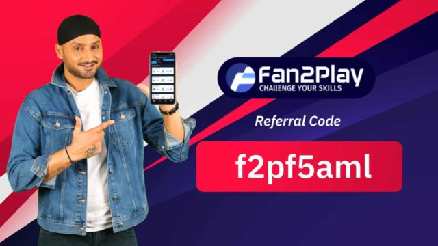 Fan2Play Referral Code: f2pf5aml, Sign Up and get ₹20 & Free entry contest